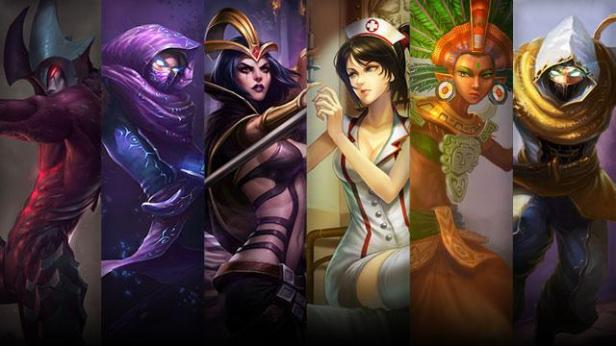 A few champions from LoL