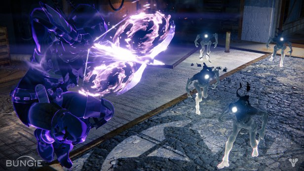 The Nightstalker using his special ability against some Taken enemies