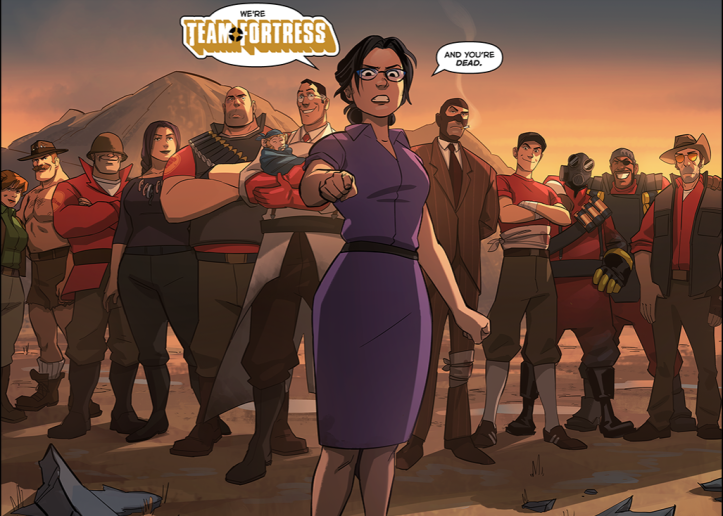 Team Fortress Comic 6 Hype And The Fandom The Vault Publication